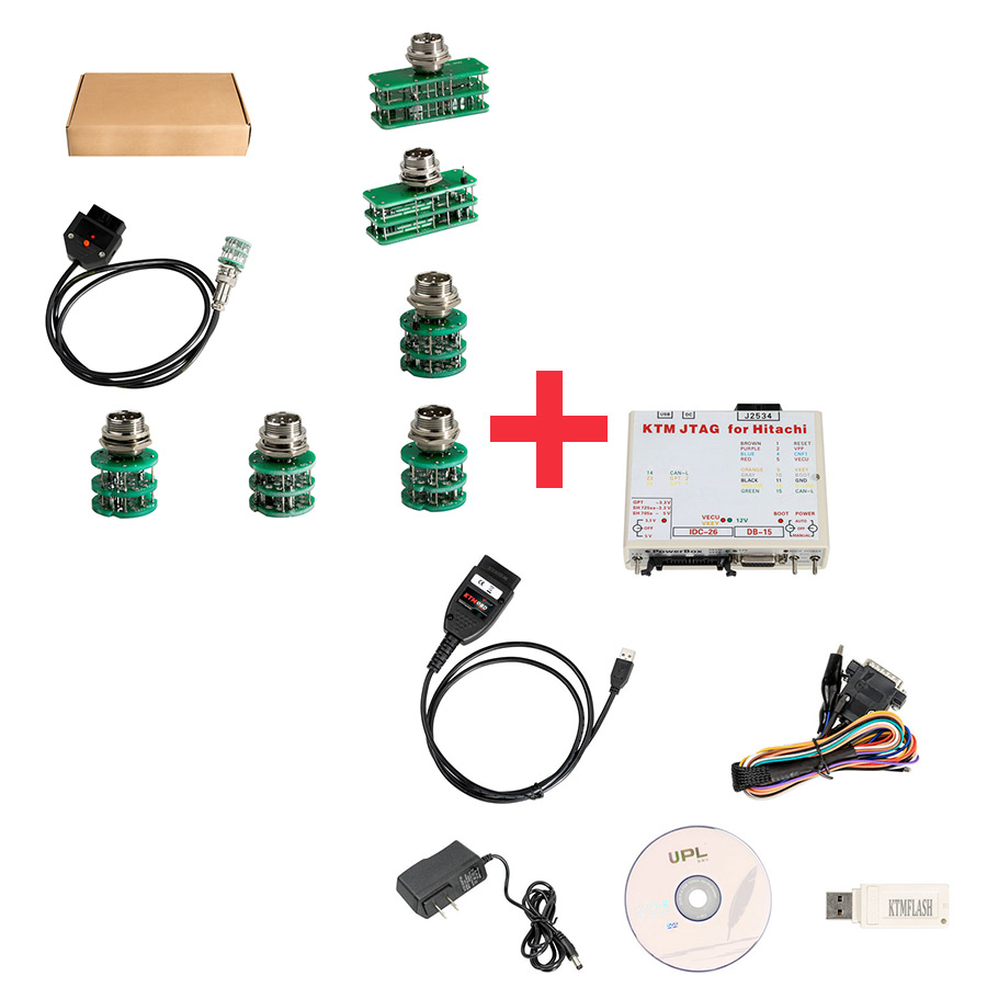 KTM FLASH KTMFLASH ECU Programmer Plus Full Set Adapters Support V-A-G DQ200 DQ250 Infineon Bosch & 271 MSV80 MSV90