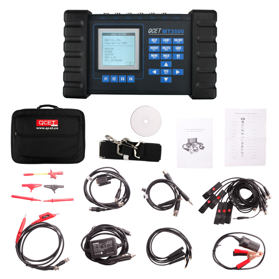 MT3500 Hand-Held Auto Engine Analyzer with Dual-track Oscilloscope