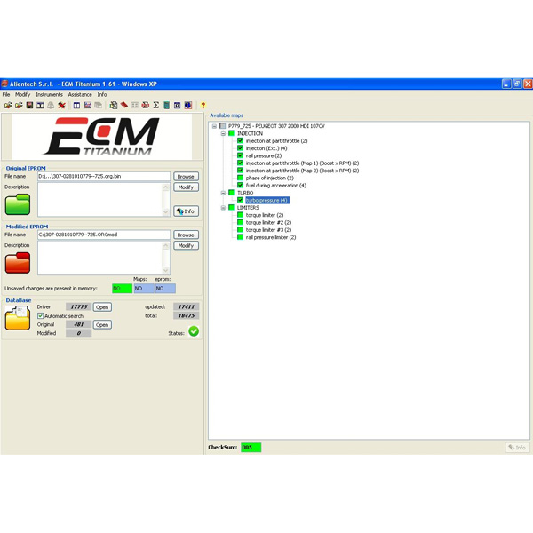 New Version ECM TITANIUM V1.61 Checksum with 18475...