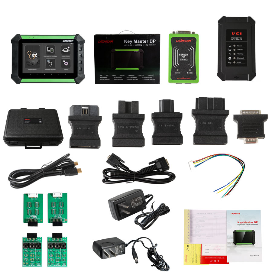 (UK Ship)OBDSTAR X300 DP PAD Tablet Key Programmer Full Package Support Toyota G&H Chip All Key Lost BMW FEM/BDC MQB Mileage Correction