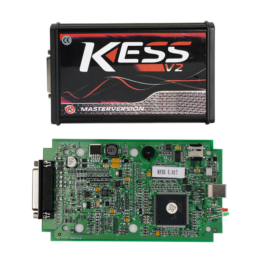 Kess V2 SW V2.47 FW V5.017 Green PCB EU Version Support Online EDC17 Protocols with Unlimited Tokens