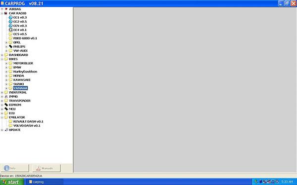 Carprog V8.21 software figures