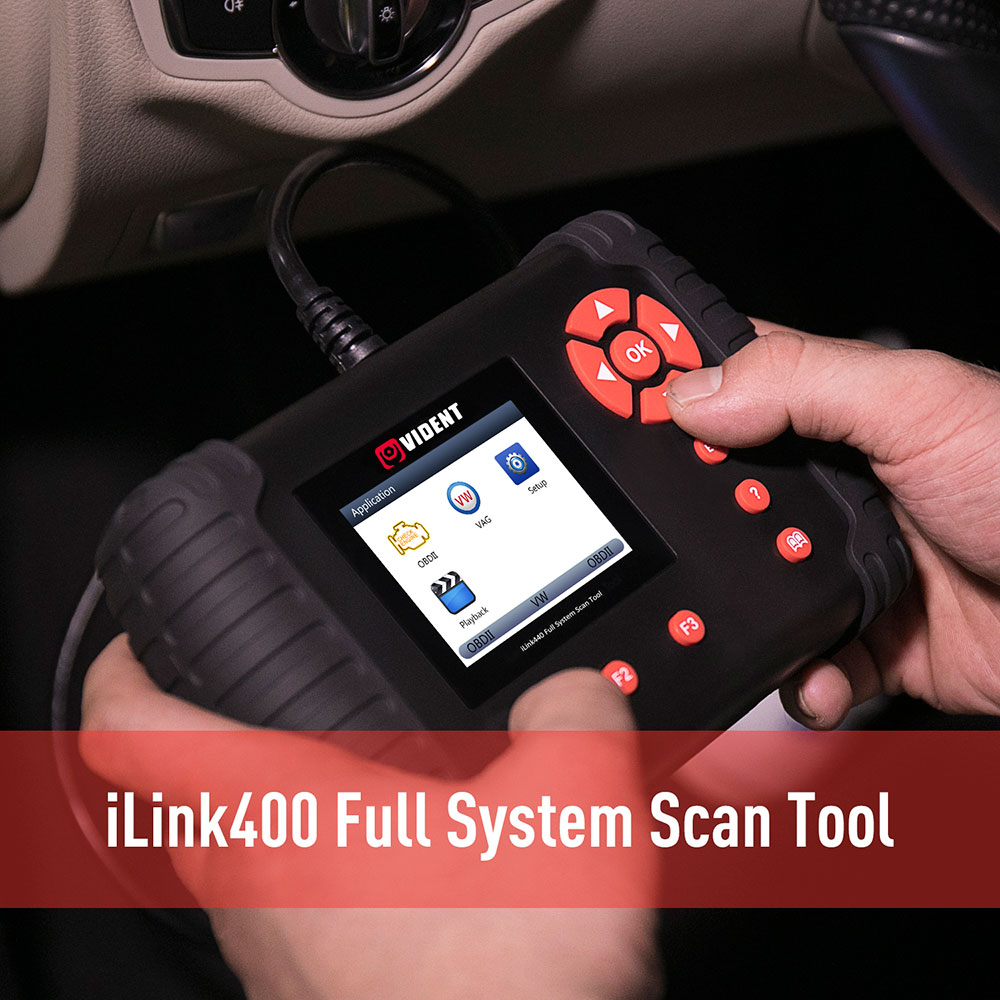 VIDENT iLink400 BMW/Mini/Rolls Royce Full System Scan Tool Perfect as Foxwell NT510 Support ABS/SRS/EPB//DPF Regeneration/Oil Reset Update Online