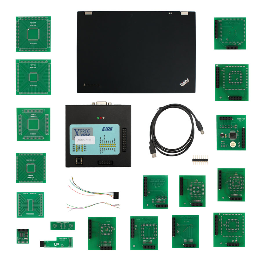 XPROG-M V5.5.5 X-PROG M BOX V5.55 ECU Programmer Get T420 Laptop +500GB HDD Especially for BMW CAS4 Decryption