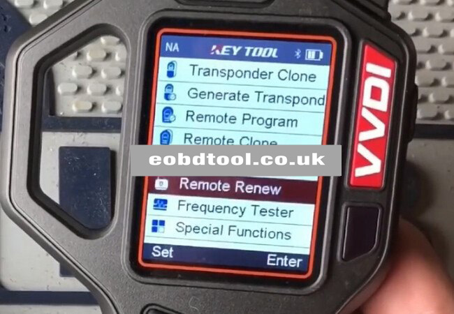 How to use VVDI Key Tool Unlock Key With Renew Adapter?